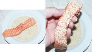 Lachs-Sesam