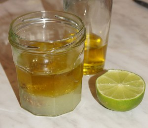 Limetten-Dill-vinaigrette