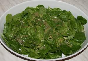 spinatbett-vinaigrette